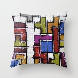 Life as Tetris Throw Pillow