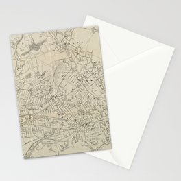Vintage Map of Lynn MA (1905) Stationery Cards