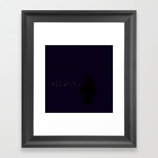 The Happy Dandelion Framed Art Print