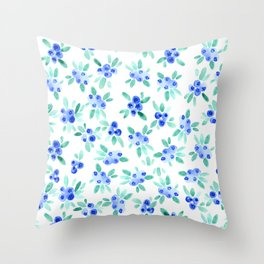 Blueberry Bunches Throw Pillow
