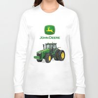 john green Long Sleeve T-shirts featuring John Deere Green Tractor by rumahcreative