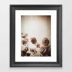 Falling Flower Variation II Framed Art Print
