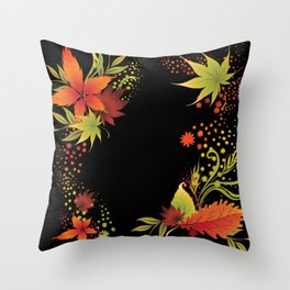 Autumn Leaves Medley  Throw Pillow