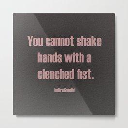 Shake Hands Metal Print