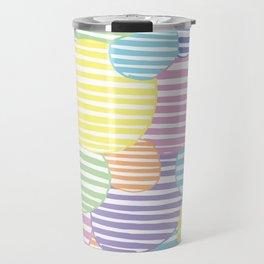 Circled Pastel Lines Travel Mug