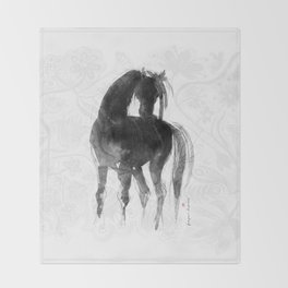 Horse (Little Black Mare) Throw Blanket