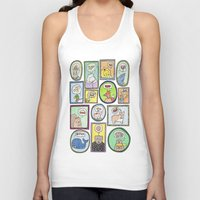 furry Tank Tops featuring Furry Foodies by The Dapper Jackalope