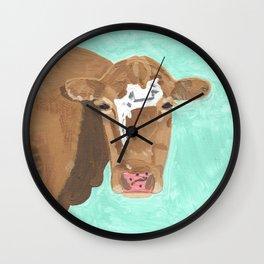 A Cow Named Banana Face Wall Clock