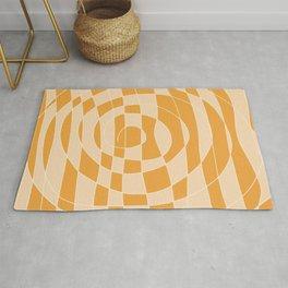 Abstract orange spiral Rug