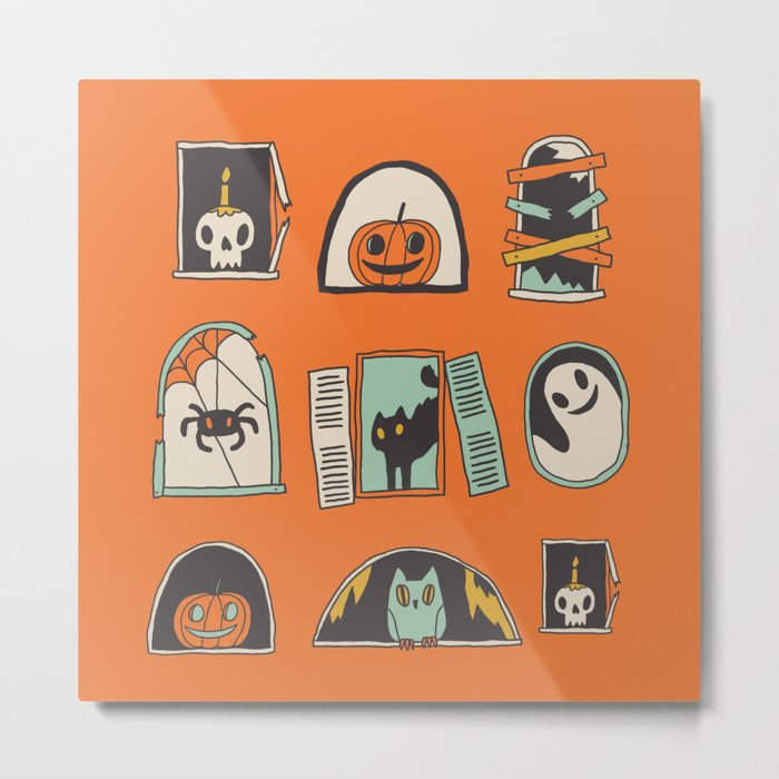 Halloween windows Metal Print