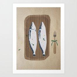 fish illustration Art Print