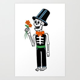 The groom Art Print