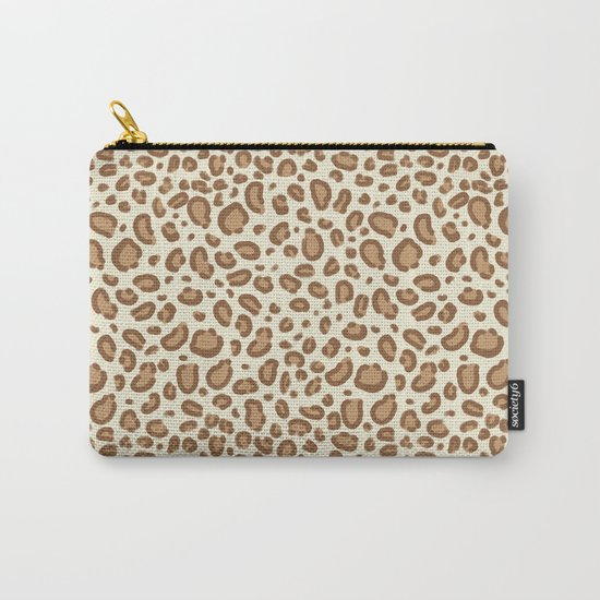 Leopard spots animal pattern print minimal basic home decor safari animals Carry-All Pouch