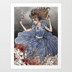 Alice in Wonderland art print Art Print