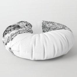 Anatomy Series: Breast Flowers Floor Pillow