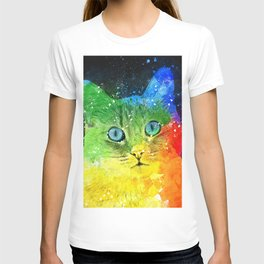Abstract Bright Cat T-shirt