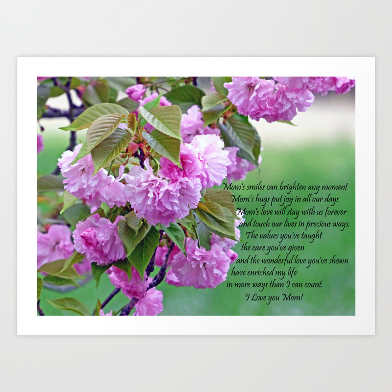 Mothers Day Poem Art Print