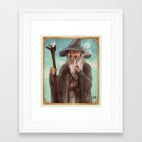 gandalf Framed Art Prints featuring Gandalf by Casey Shaffer