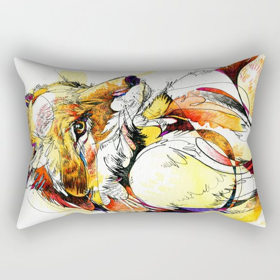 Fox Flow Rectangular Pillow