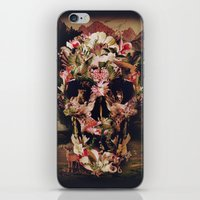 jungle iPhone & iPod Skins featuring Jungle Skull by Ali GULEC