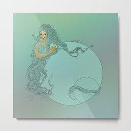 Guardian Mermaid Metal Print