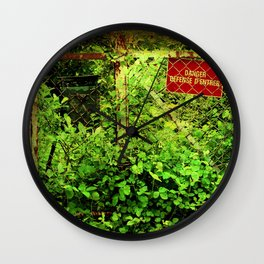 Wild Garden I Wall Clock