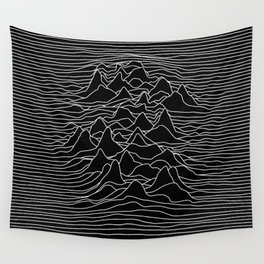 Black and white illustration - sound wave graphic Wall Tapestry