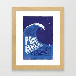 Point Break Framed Art Print