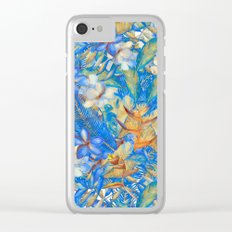 My Blue Aloha Tropical Flower Hibiscus Garden on #Society6 Clear iPhone Case