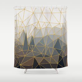 Autumn abstract landscape 1 Shower Curtain