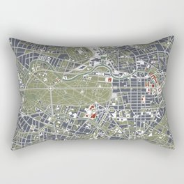 Berlin city map engraving Rectangular Pillow