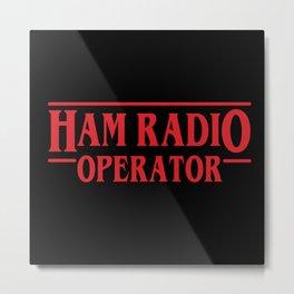 Strange Ham Radio Operator Metal Print