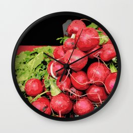 Harvest Red Radishes Wall Clock