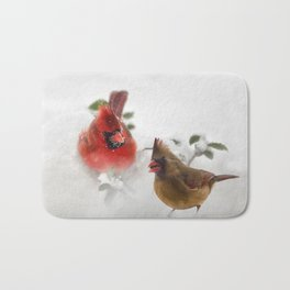 Mr. and Mrs. Cardinal Bath Mat