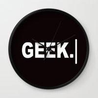 geek Wall Clocks featuring GEEK by UMe Images