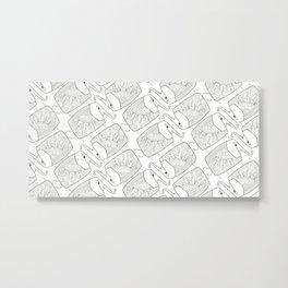 Elephant Pattern by dana alfonso Metal Print