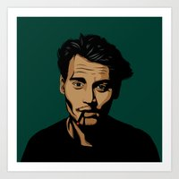 johnny depp Art Prints featuring johnny depp by pexkung