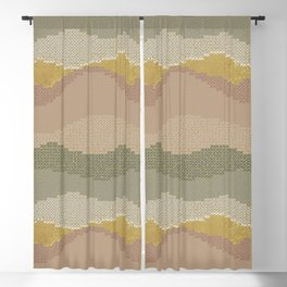 Golden Waves Blackout Curtain