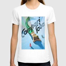 1936 Campari Italian Bitters Aperitif Mermaid Vintage Advertising Poster T-shirt