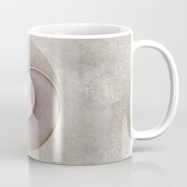 Geometrical Line Art Circle Distressed Rosegold Coffee Mug