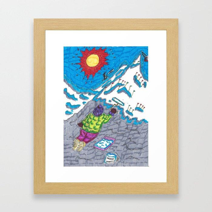 Painting a Mountain Framed Art Print