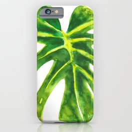 Watercolour Monstera Leaf iPhone Case