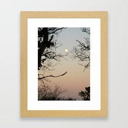 Tree Moon - Vertical Framed Art Print