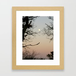 Tree Moon - Vertical Framed Art Print
