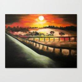 running at dusk 1 Canvas Print