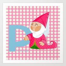 p for princess Art Print