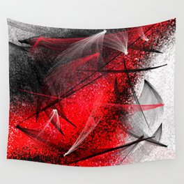 under the spotlight abstract digital painting Wall Tapestry