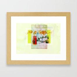 England Framed Art Print