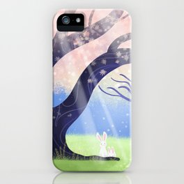 Soft Light On Soft Hares In Aloquil's Glades iPhone Case