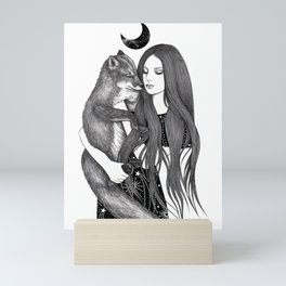 Night Fox Mini Art Print